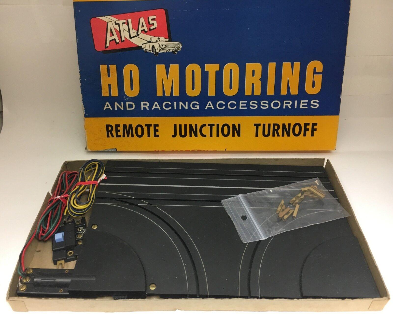 ATLAS HO SLOT CAR 1960'S REMOTE JUNCTION TURNOFF IN ORIGINAL BOX
