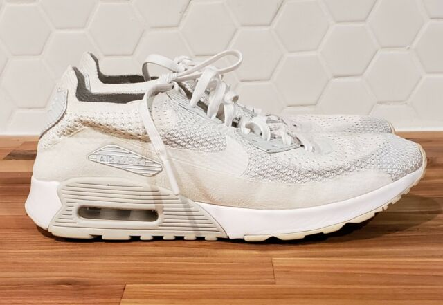 Size 9 - Nike Air Max 90 Flyknit Ultra 2.0 White for sale online ...