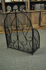 Image is loading Arch-Shaped-Front-Fire-Guard-Screen-gothic-fire-