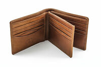 Tony Perotti Prima Trifold Men's Italian Leather Wallet, Hand Tanned In Honey on Sale