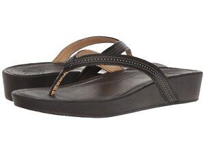 b8441152a9ba2a Women s Shoes OluKai Ola Leather Wedge Sandals 20322-4040 Black  New ...