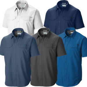 New-Mens-Columbia-034-Silver-Ridge-034-Vented-Omni-Wick-Short-Sleeve-Shirt-Big-amp-Tall