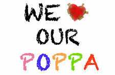 WE LOVE OUR GRANDAD POP POPPA GRANDPA JUMBO FRIDGE MAGNET GIFT BIRTHDAY GIFT NEW