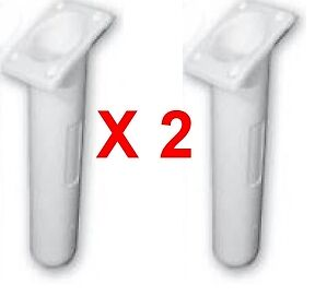 Slimline Angled White Ebay Motors Shop For Cheap Rod Holders X 2