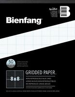 Bienfang Designer Grid Paper 50 Sheets 8-1/2-inch By 11 Pad 8by8 Cross Section