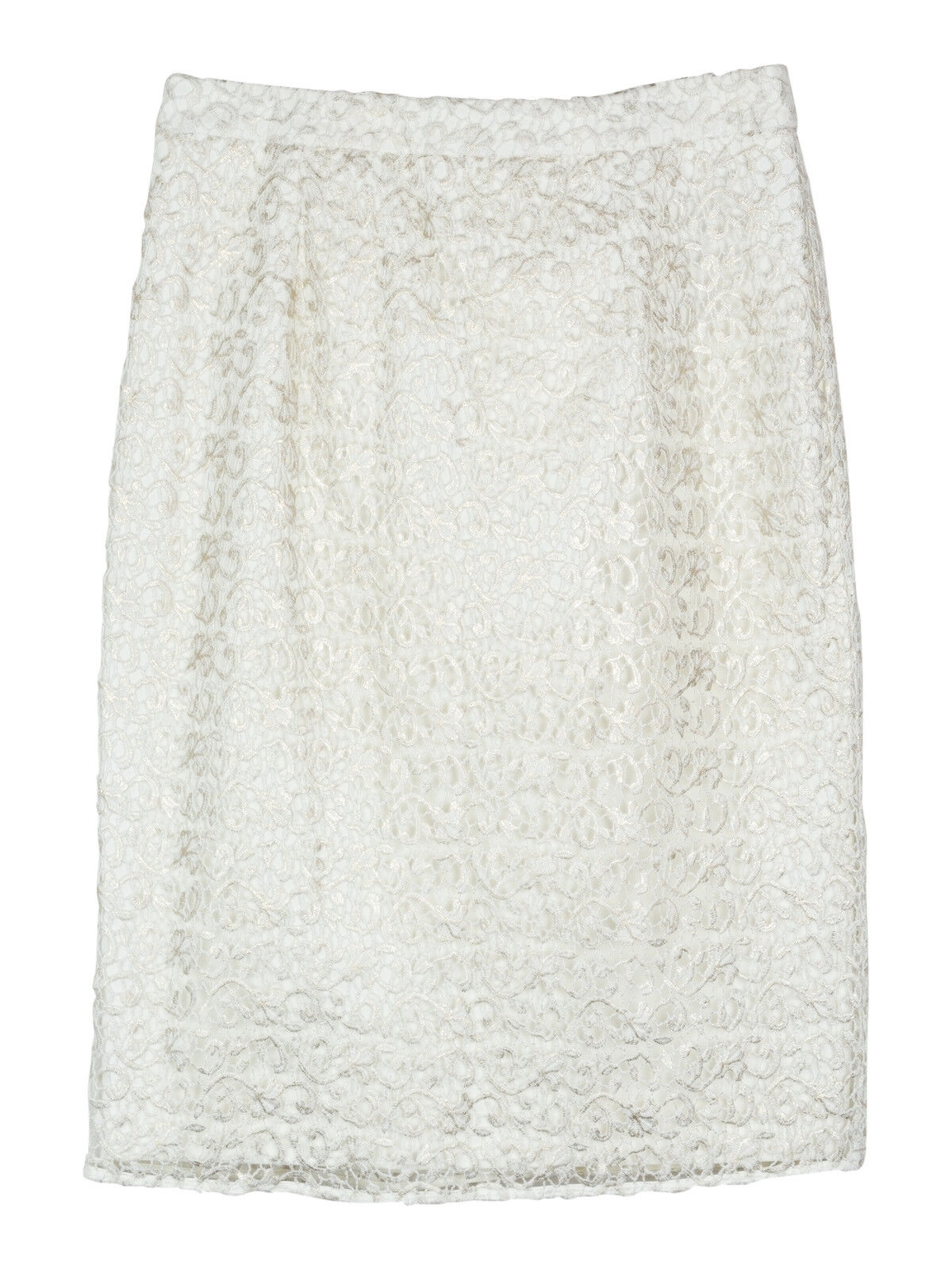 NEW Freda gold and white niamh lace pencil skirt