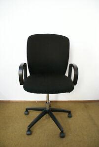 Gebrauchter-Buerostuhl-Drabert-D2-Schreibtischstuhl-mit-schwarzem-Bezug