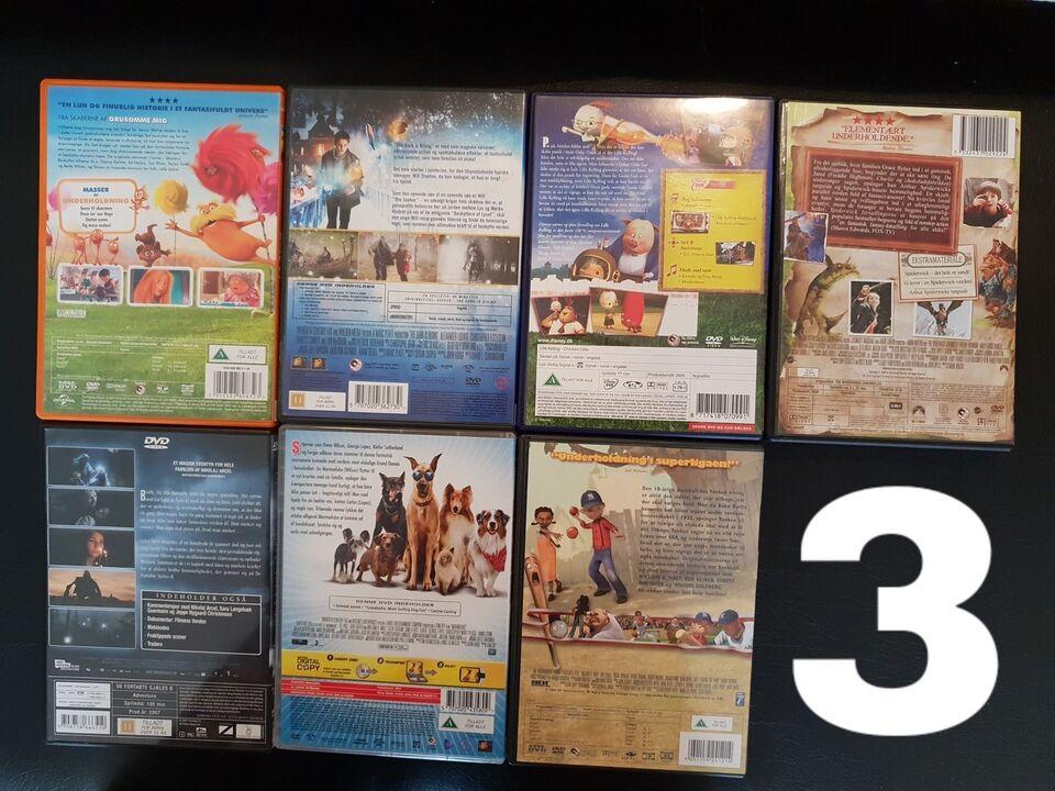 Disney/Børne/Familiefilm, DVD, familiefilm