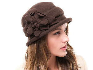 6d81876b9 Details about Brand New Ladies Brown Wool Knitted Winter Cloche Style  Nicole Hat