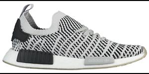 aa3f59eafcb8a Adidas Men NMD R1 STLT CQ2387 Black Grey White Primeknit Mens