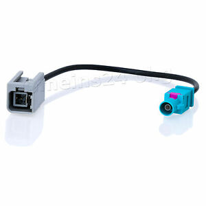 Antennen-Adapter-Kabel-GT5-1S-1PP-Stecker-m-gt-Fakra-Z-Stecker-m-Antenne