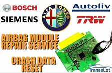 ALFA ROMEO AIRBAG ECU SRS ECU AIRBAG MODULE CRASH DATA RESET REPAIR SERVICE