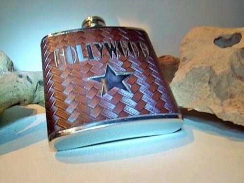 Edel Flachmann Taschenflasche Leder Optik Design Flachmann zum Aktionspreis 0002