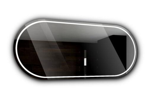 PALERMO Badspiegel mit LED Beleuchtung Wandspiegel Badezimmerspiegel Maß A01