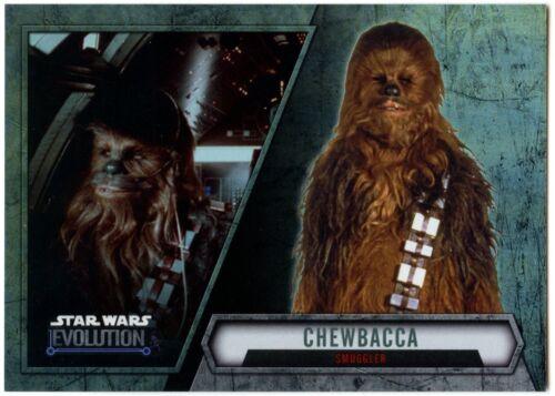 Chewbacca C1984 Smuggler #56 Star Wars Evolution 2016 Topps Trade Card