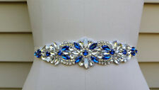 Something Blue Wedding Belt, Wedding Sash, Bridal Sash, Rhinestones