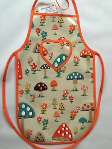 Cath-Kidston-Handmade-039-Mushroom-039-Oilcloth-Children-039-s-Apron-Age-5-12-Years