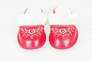 100 donna 6 naturale uk3 Formato 7 da e invernali 5 lana di donna 4 pelle 8 pecora Pantofole BZIRx