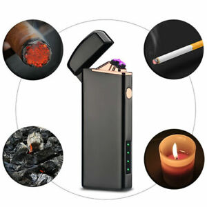 Cigarette-USB-Chargeable-Electric-LIGHTER-Double-ARC-PULSE-Flameles-Plasma-Torch