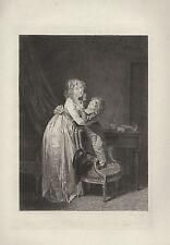 BOILLY La JEUNE MERE 1880 gravé RAMUS 1822 1890