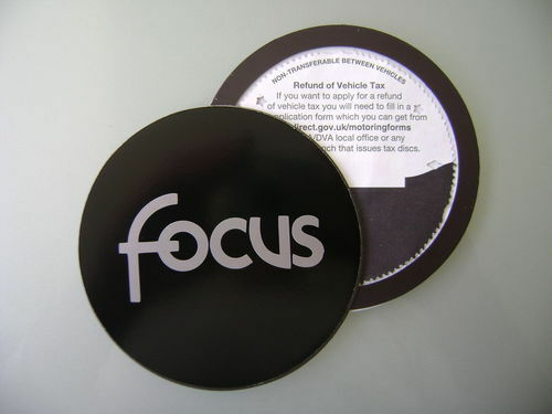 Magnetic Tax disc holder fits any ford focus silver    a