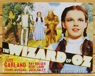 The Wizard of Oz Dorothy Yellow Brick Road TIN SIGN metal poster home decor 1640