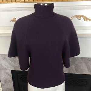 AG-ADRIANO-GOLDSCHMIED-Anthropologie-XS-Purple-Turtleneck-Flare-Cashmere-Sweater