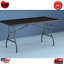 6 ft folding table centerfold portable outdoor picnic indoor plastic party black