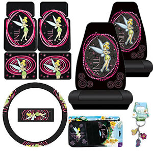Tinkerbell Car Seat Covers Accessories 9pc Set Optic