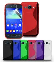 NEW STYLISH GRIP SERIES CASE COVER FITS SAMSUNG GALAXY ACE & SCREEN PROTECTOR