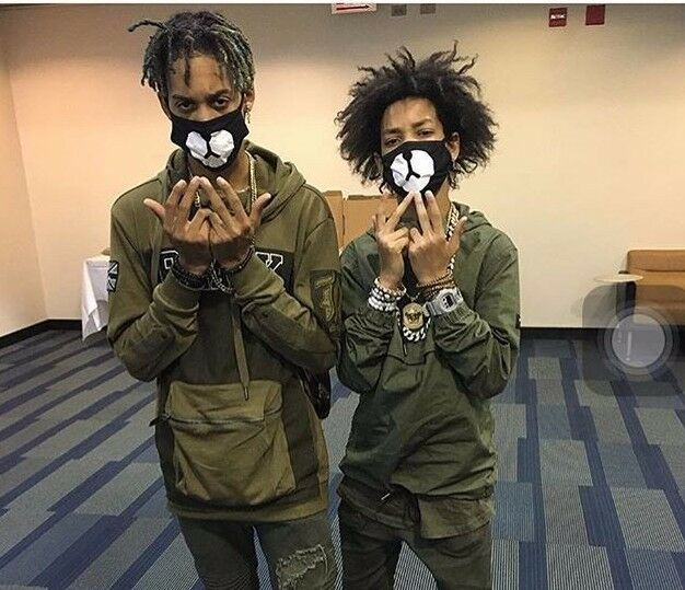 Fashion Ayo and Teo Face Mask panda bape mask bear mouth black bw