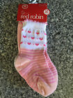 BNWT Girls Red Robin Brand Pretty Pink/White 2 Pack Crew Socks Age 6-12 Months