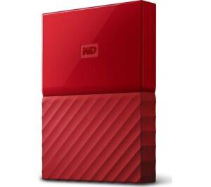 Copieux Wd My Passport Disque Dur Portable - 2 To, Rouge Usb 3.0-afficher Le Titre D'origine 100% D'Origine