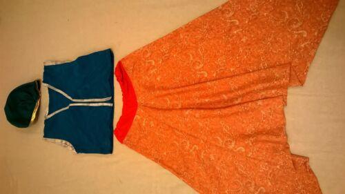 Children Alibaba// Aladdin waistcoats Hat// Head Veil Harem pant Sash all sizes