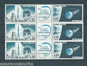 FRANCE-1965-YT-1465a-3x-bande-TIMBRES-NEUFS-LUXE