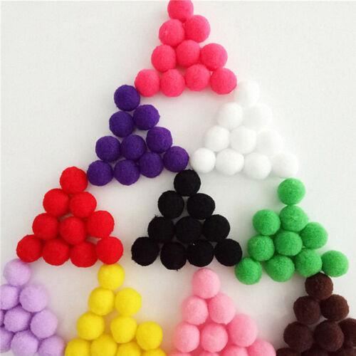 100//1000Pcs Mixed Color Soft Fluffy Round Pompom Balls DIY Craft Decoration 10mm