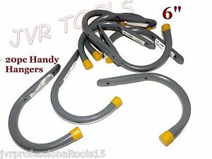 """(20pc) 6"""" GIANT Storage Handy Hanger Hooks Garage Home Shop Bicycles Hoses"""