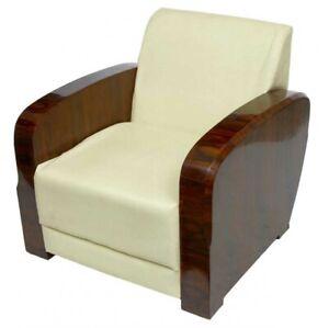 Pair Art Deco 1920s Club Arm Chairs Sofa Seats Armchair Ebay
