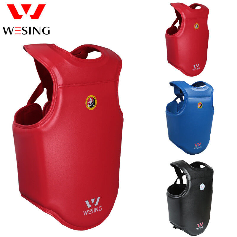 Wesing men WuShu sanda chest guards Martial Arts chest predectors approved IWUF