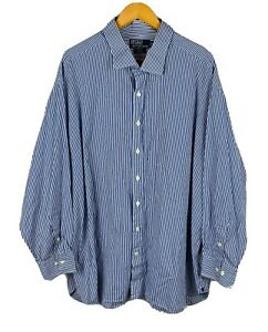 Polo-Ralph-Lauren-Mens-Button-Up-Shirt-Size-20-4XL-EXTRA-BIG-Long-Sleeve