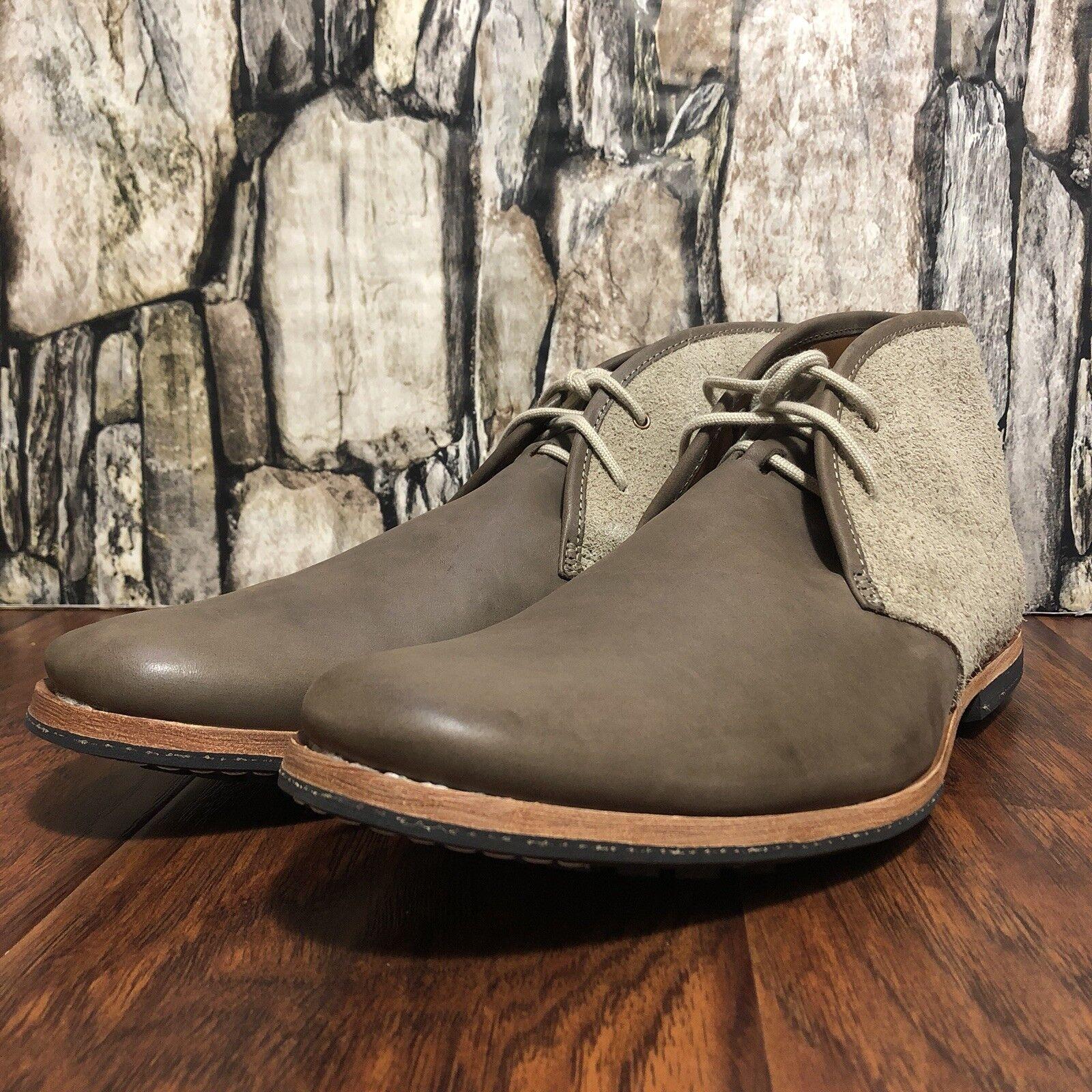 75008154c01600 Steve Steve Steve Madden Men s IVON Chukka Boot NIB Grey Leather Size 17   100 New!