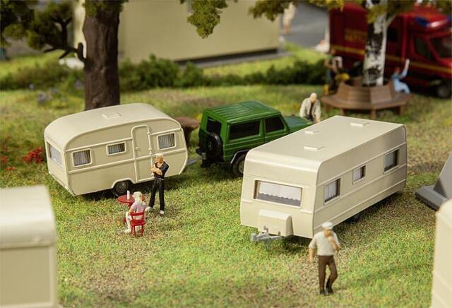 Faller x 2 Caravans 140483 HO Scale (suit OO also)