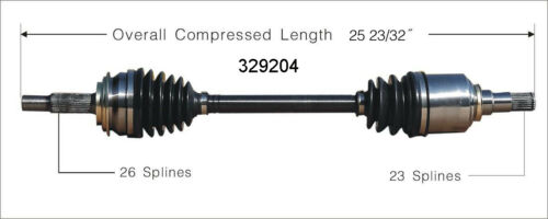 CV Axle Shaft Front Left WorldParts 329204 fits 06-17 Toyota Yaris