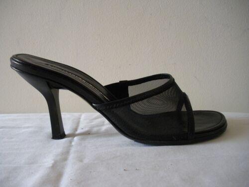 Chaussures Mules maille JPliner Sandales en à noire 7 cuir ~Donald m Posh Chaton 6fgyYb7v