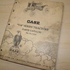 Case Va Series Tractor Parts Manual Book Catalog List Spare Farm Vintage