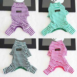 Jumpsuit-Stripe-Pet-Dog-Puppy-Pajamas-Autumn-Clothes-Sleepwear-Teddy-Winter-Cat
