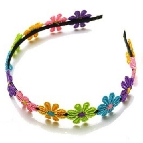 Girls Multi-coloured Daisy Flower Headband Alice Band Hairband Party