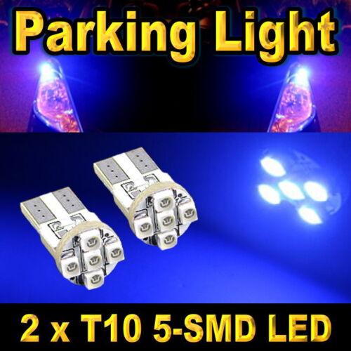 2 X DEEP BLUE T10 168 194 2825 2827 SMD LED FRONT PARKING LIGHT BULBS #D5