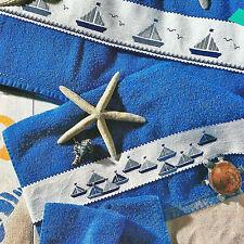 Stickvorlage * Segelschiffe * 3 Bordüren für Handtücher Kreuzstich Anchor Coats