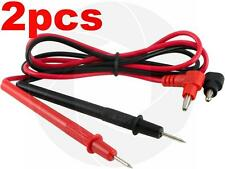 2 Pairs Multimeter Voltmeter Test Probe Leads With Banana Plug Connectors 1000v
